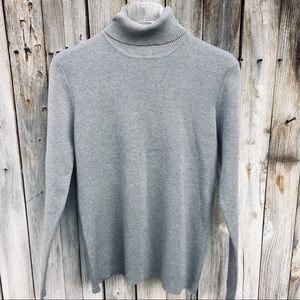 Chico's Heather Grey Turtleneck Sweater Size M